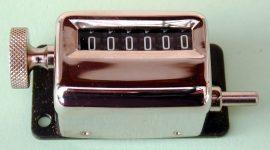 Mechanikus löket számláló, 6 digites